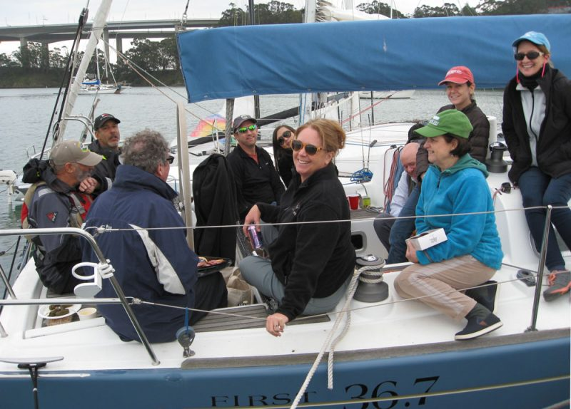 LaDonna and others aboard Bonaparte