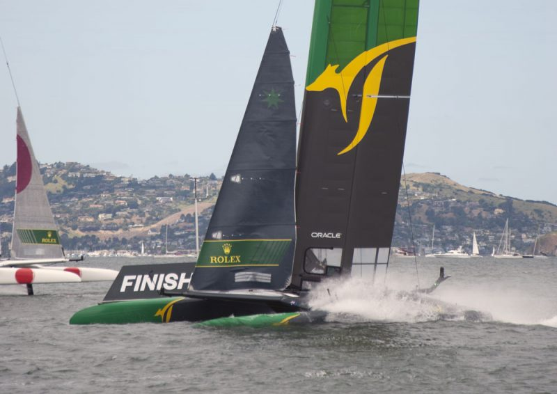 Australia at the finish mark