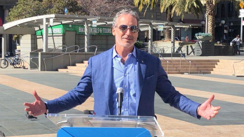 Paul Cayard in Union Square