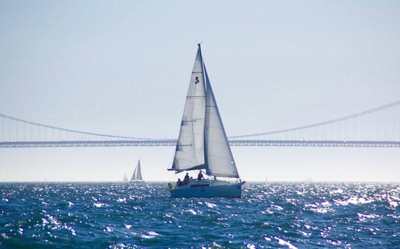 Sunny San Francisco Bay sailing