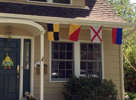 Four signal flags
