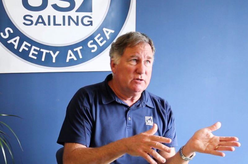 Chuck Hawley lecturing at the US Sailing Safety at Sea Seminar