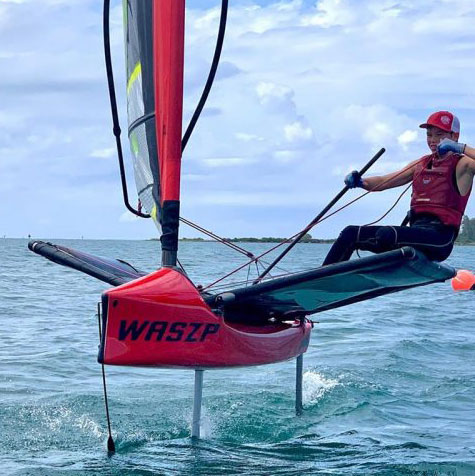 Foiling red Waszp