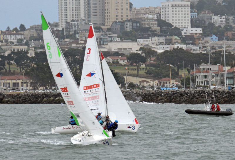 Lipton Cup start in J/22s in San Francisco