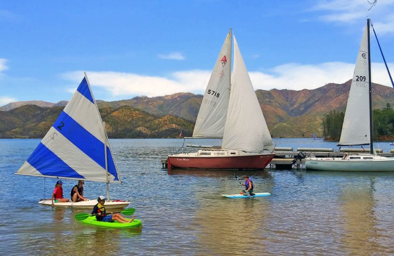 sailboats and watercraft on Whiskeytown lake