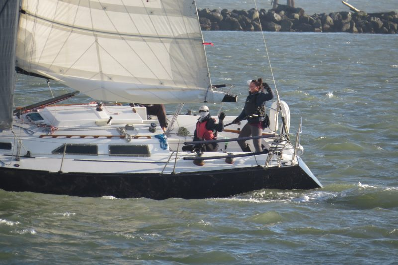 Joy Ride finishes the race with new owner pumping her fist