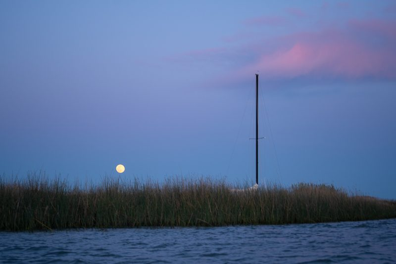 Middle Slough Moon Rise