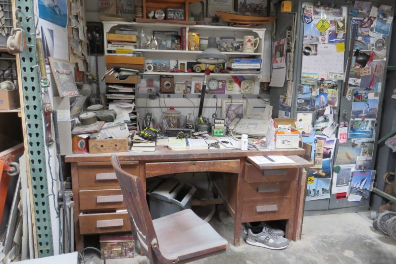 Craig Smith's desk reflects 30 years in the industry