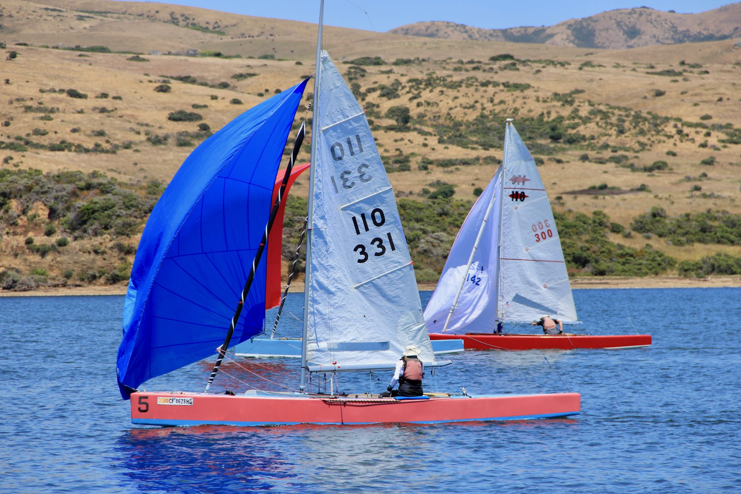 Milly Biller flies her chicken mainsail