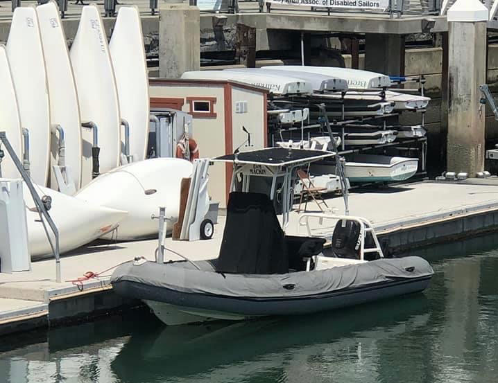 Mackin RIB at dinghy dock