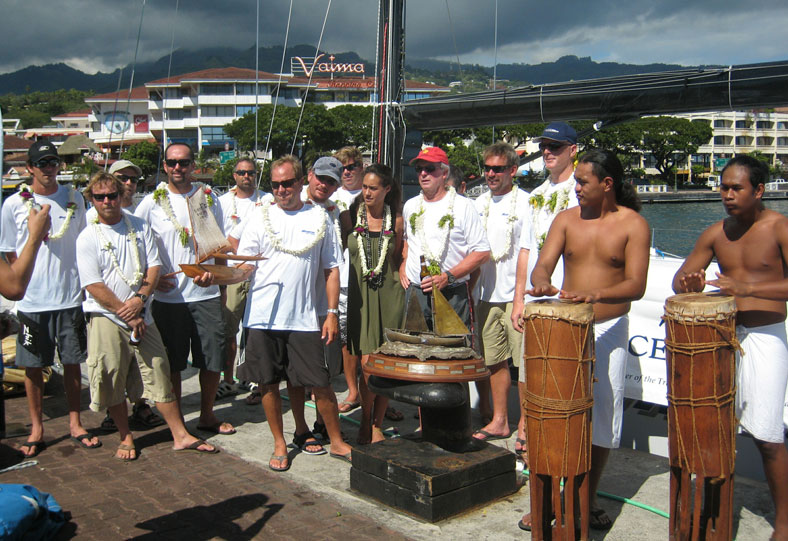 Magnitude80 crew in Tahiti