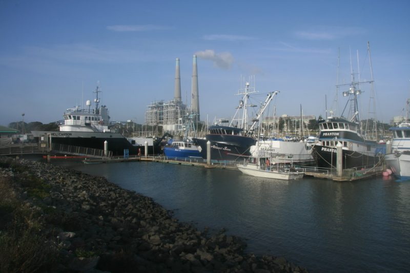 Moss Landing Yacht Harbor hosts the Monterey Bay Aquarium research laboratory vessels