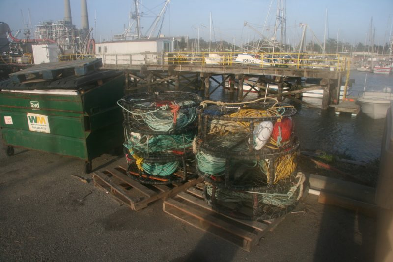 Crab fishing is a mainstay of Moss Landing activity