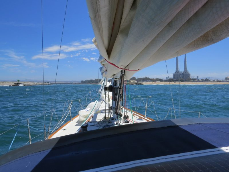 Sailing in to Moss Landing on SV Shaman
