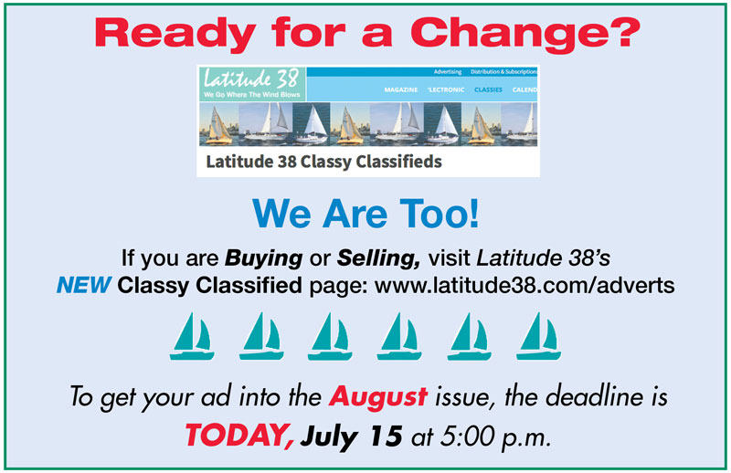 Classy Classified Deadline Is Today!