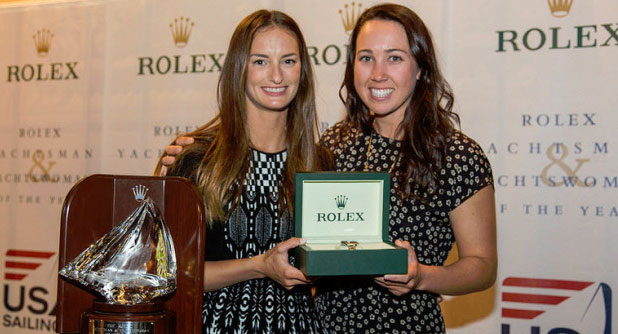 Annie Haeger and Briana Provancha with Rolex
