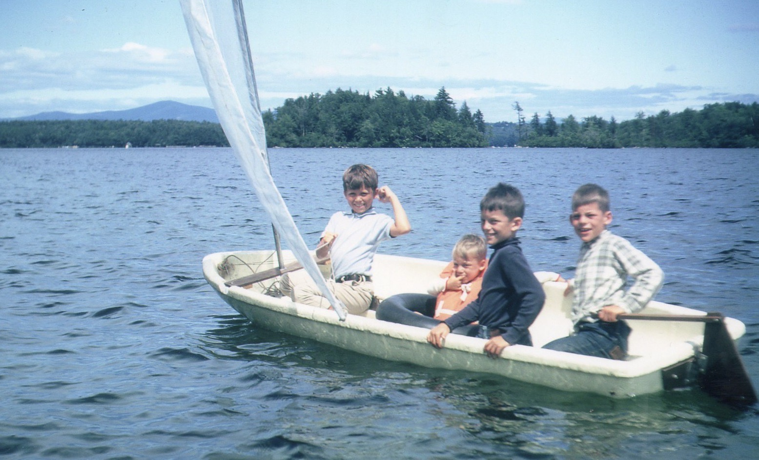 Young John and brothers aboard the Sea Snark