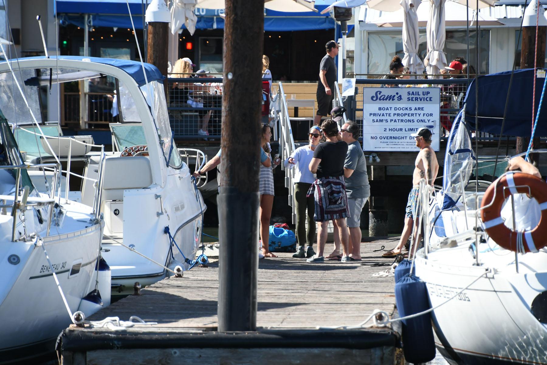 Sam's in Tiburon, known for Boat-In dining.