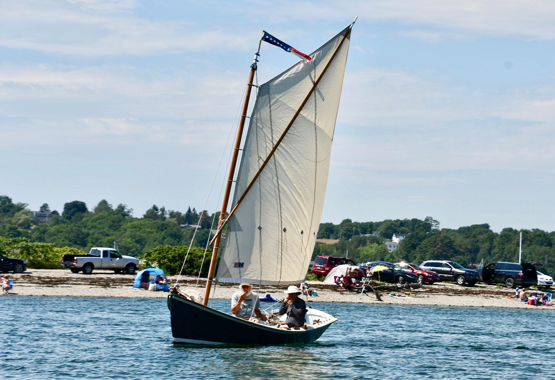 Sprit sailed dory