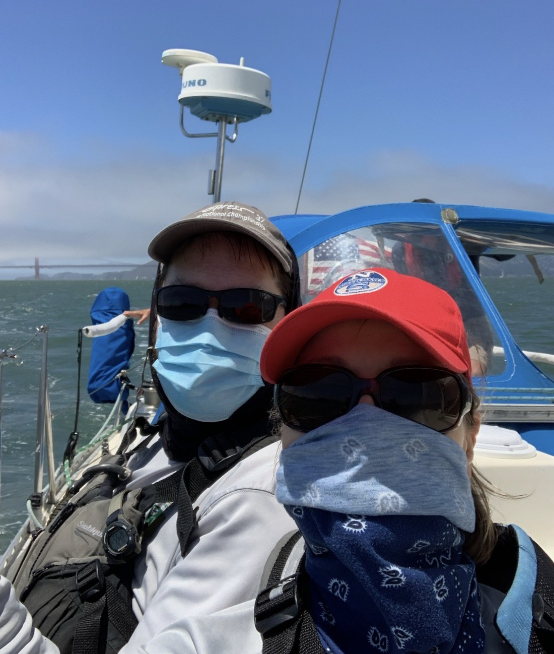 Two masked sailors