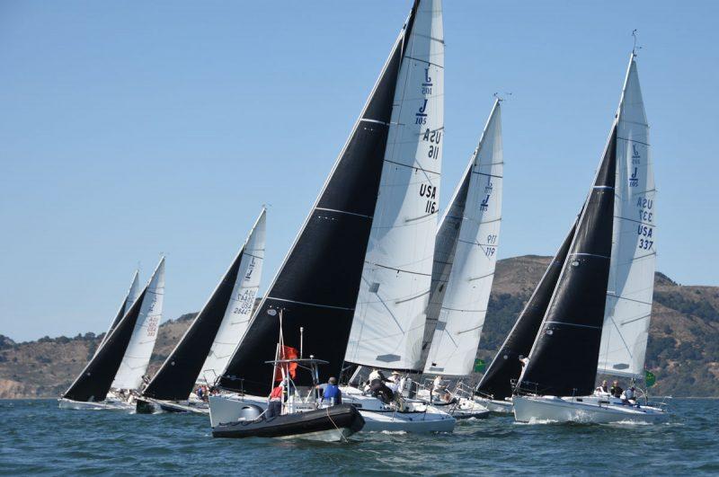 J/105 start on San Francisco Bay
