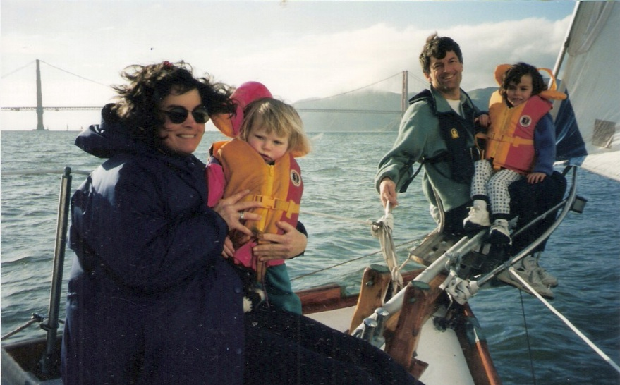 John Arndt and family under sail.