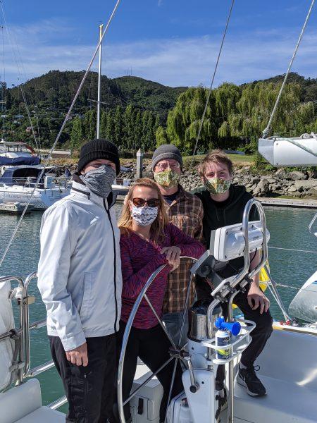 Smith family aboard Modern Sailing's Catalina 320