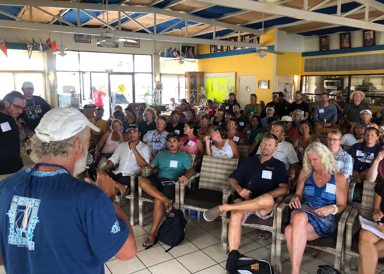 Pacific Puddle Jump briefing inside Vallarta YC.