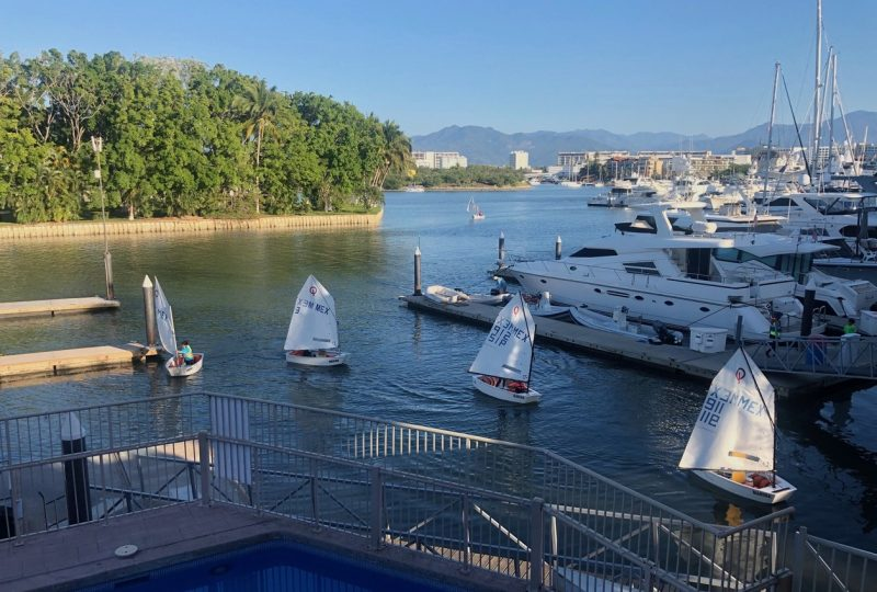 Small boats coming home to Vallarta Yacht Club