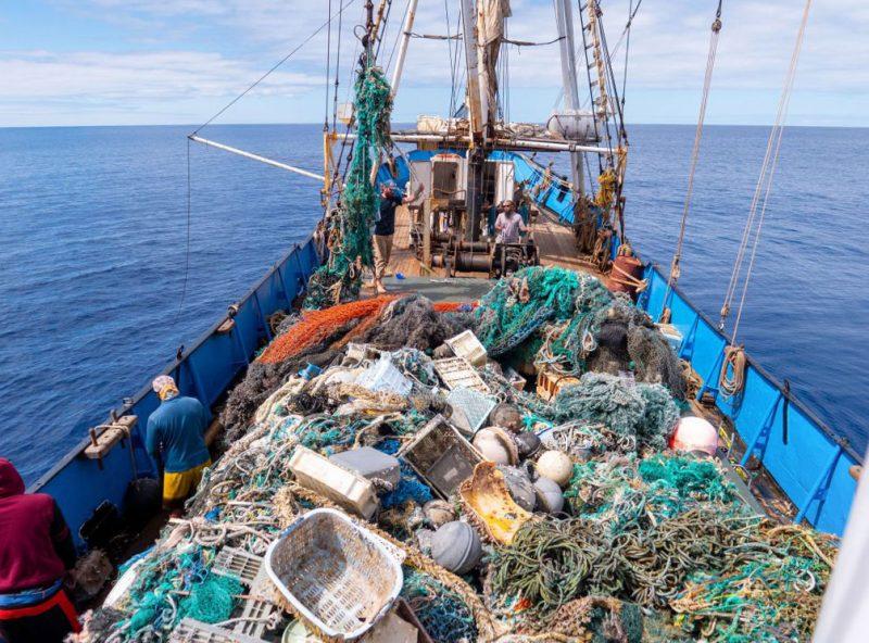 ship hold full of debris