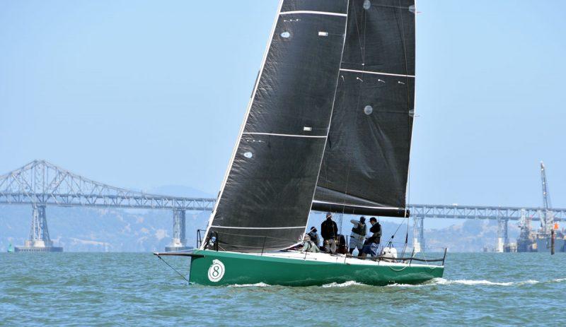 Adjudicator sailing with Richmond Bridge in the background.