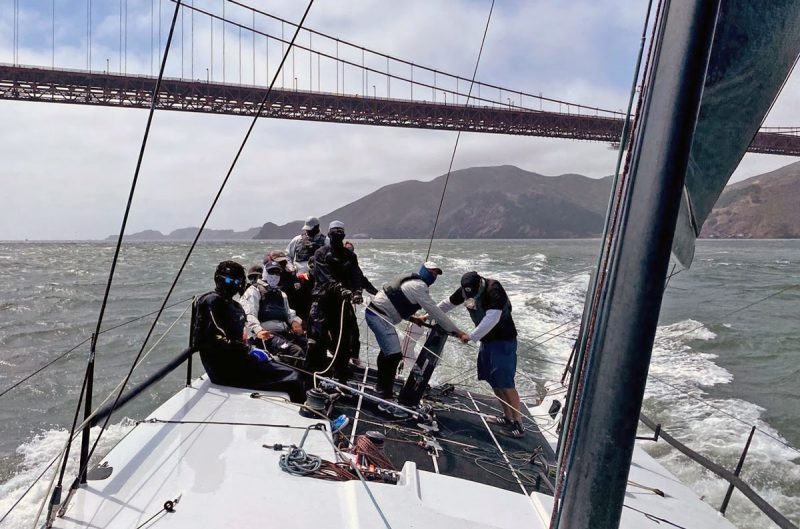 Crew with Golden Gate Bridge in background