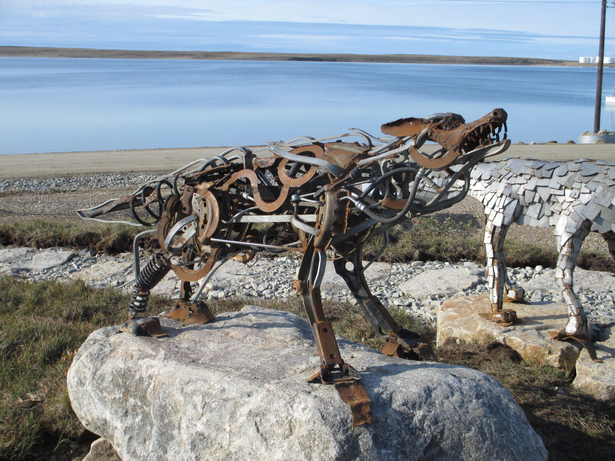 Cambridge Bay Wolf made from bricolage