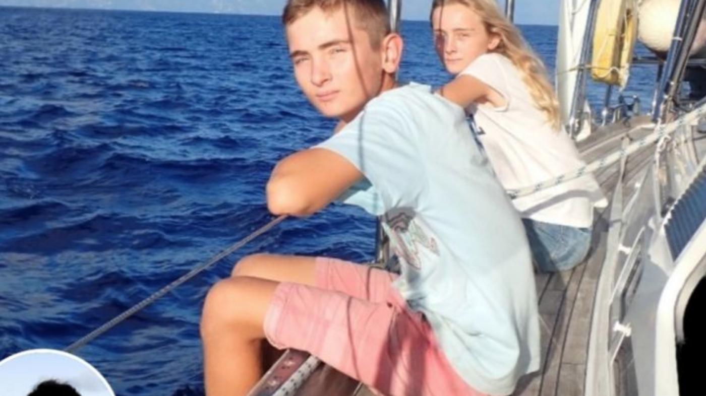 Eddie and his sister Amelia