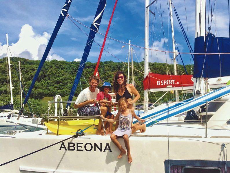 Mulim family aboard Abeona