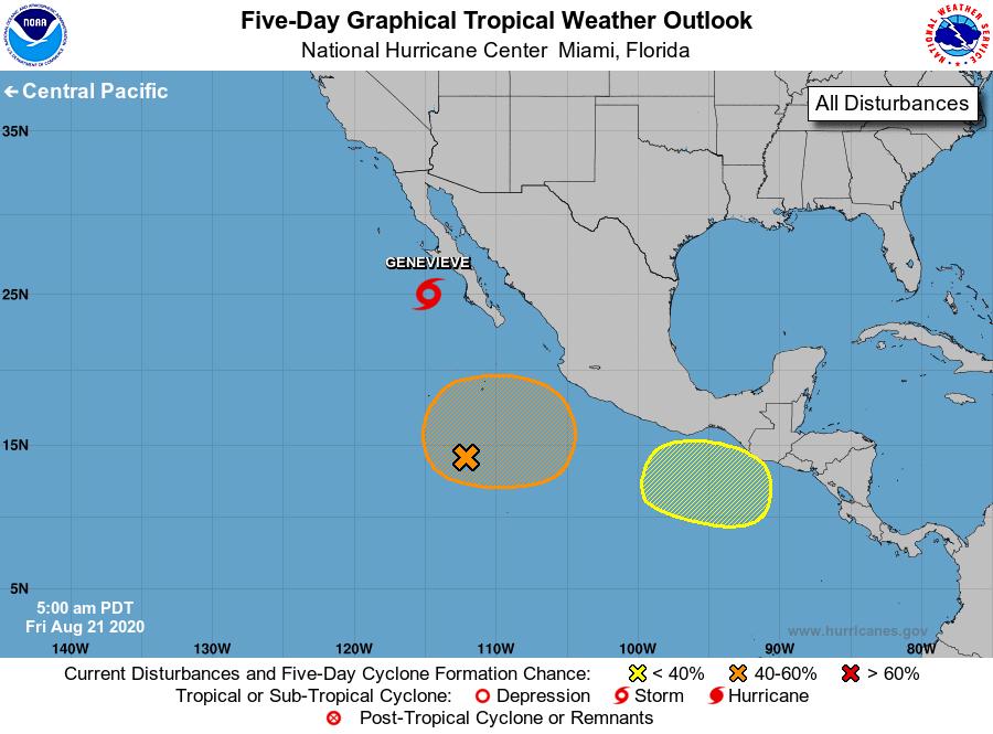 NOAA map of Hurricanes