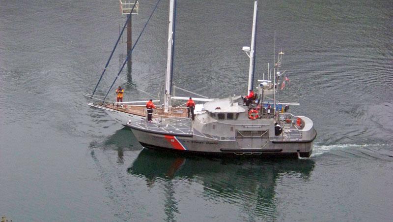 USCG assisting sailing vessel