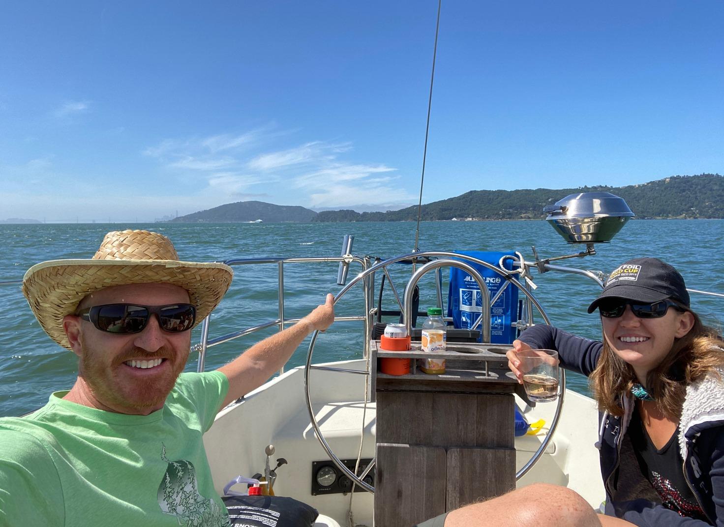 Jos & Anne cruising the Bay