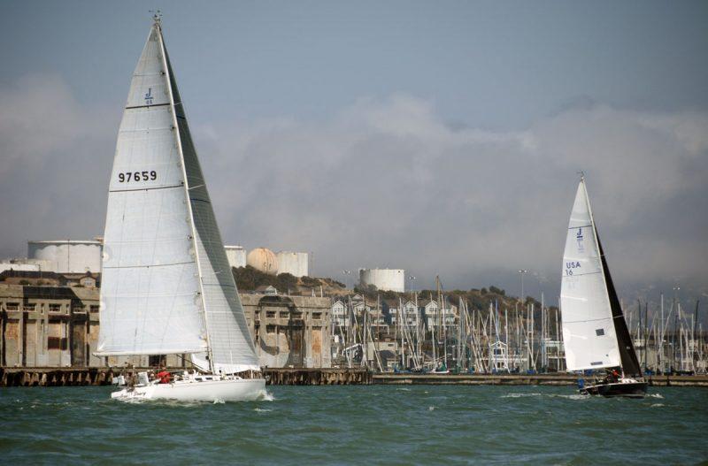 Sailing into Richmond Harbor