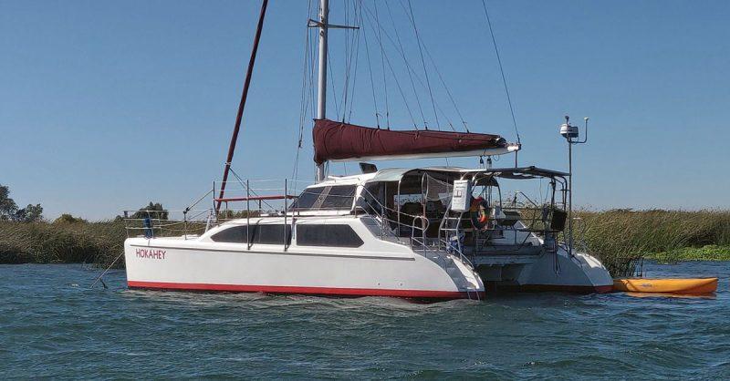 Hokahey at anchor