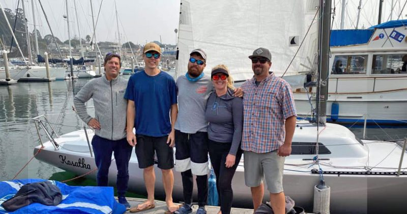 Kasatka crew at the dock