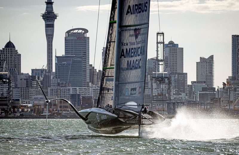 Patriot foiling in Auckland