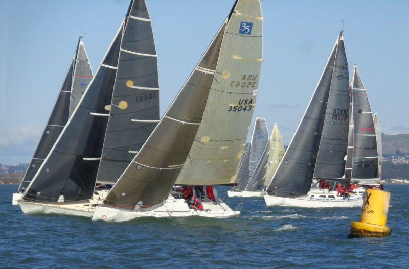 Fleet start at the XOC buoy