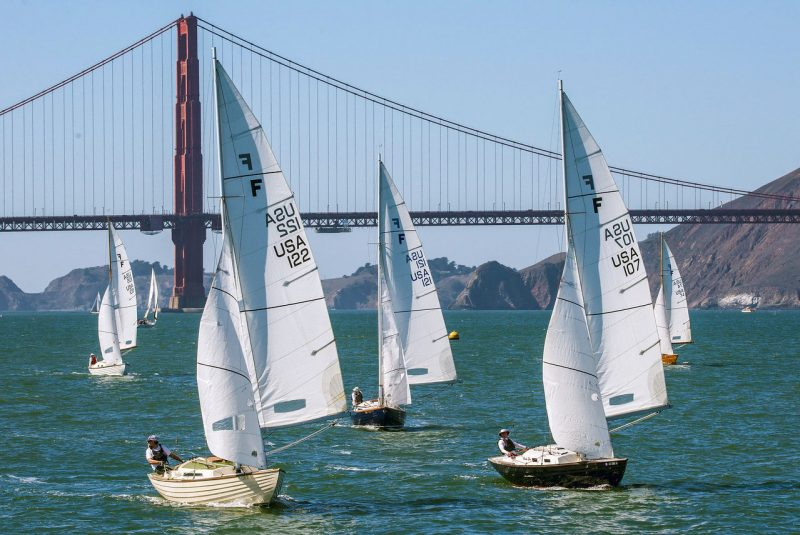 Folkboats on the run from the Golden Gate Bridge