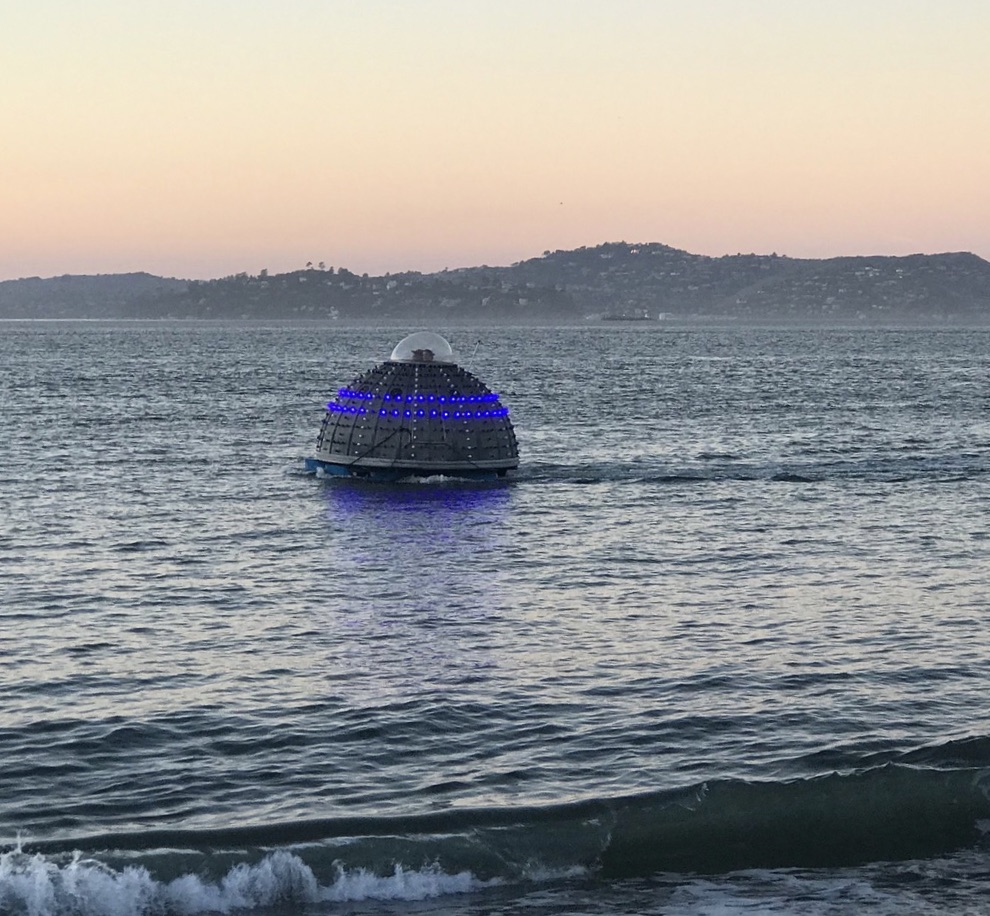 Mysterious dome with blue lights - UFO
