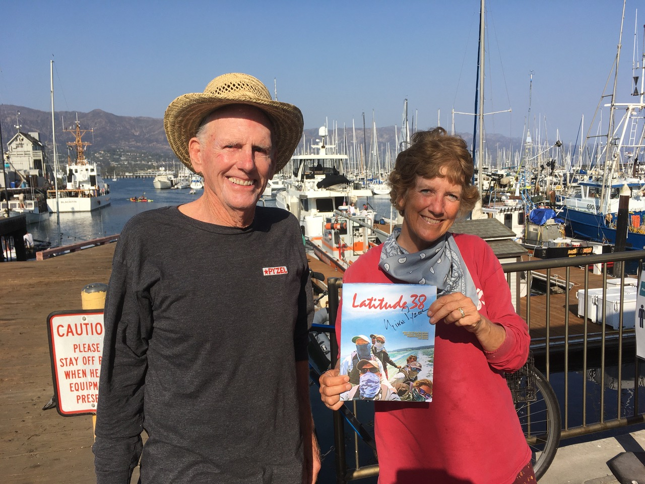 Jackie met Mike Pyzel enroute to Channel Islands
