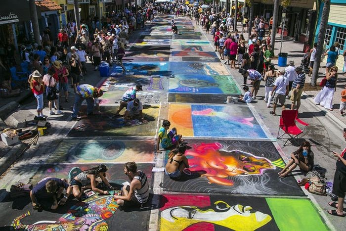 Visions of the Wild festival chalk art