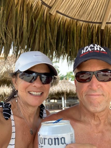 Rich and Laura on the beach in Mexico
