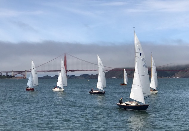 Folkboats racing on the Bay