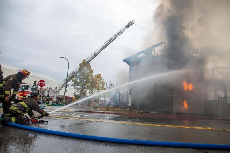 Cryer & Sons building burns